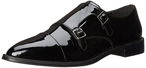 Aquatalia Women's Harlow Monk Strap, Black Patent, 5 M US