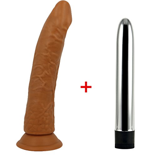Hot Sex Toys New Style Black Big Real-istic Strong Suction Cup Dick Penis & Multi Speed Strong Vibrators for Women Sex Toys for Woman Sex Shop Vibrator Brown