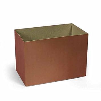 Amazon.com: Cartón Kraft cesta caja de 8 – 1/4