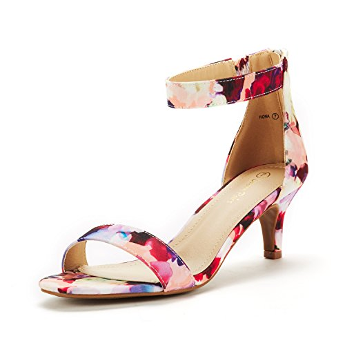 (DREAM PAIRS Women's Fiona Floral Fashion Stilettos Open Toe Pump Heeled Sandals Size 8.5 B(M) US)