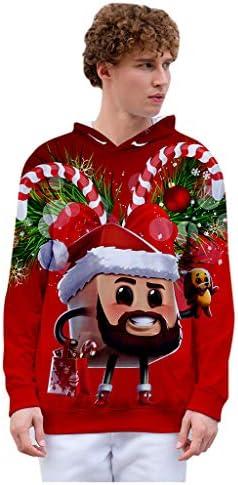 Couple Wear Hoodies Cute 3D Santa Print Christmas Theme Kangaroo Pocket Unisex Sweatshirt Pullover Women Men Top – The Super Cheap