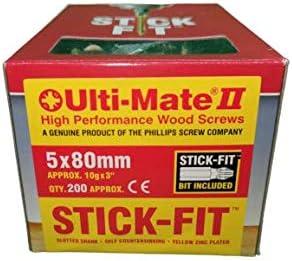conducci/ón con una mano pozisquare Tornillo de madera de alto rendimiento con ajuste de palo varios tama/ños incluye punta de ajuste de alta calidad Ulti-Mate 2 anticamuflado antioxidante