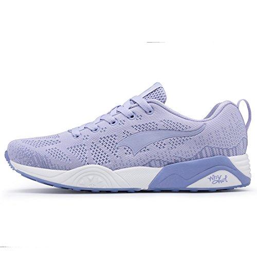 Mesh Sports Sneakers Pattern Lightweight ONEMIX Knit Fashion Women's Running Blue Shoes Men's zqHxFwa