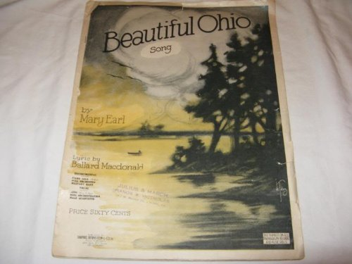 BEAUTIFUL OHIO MARY EARL 1918 RIPPED SHEET MUSIC FOLDER 429 SHEET MUSIC