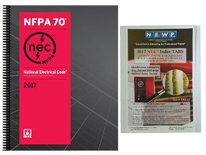 NFPA 70: National Electrical Code (NEC) Spiralbound and Fast Tabs, 2017 Edition, Set by NFPA-BB