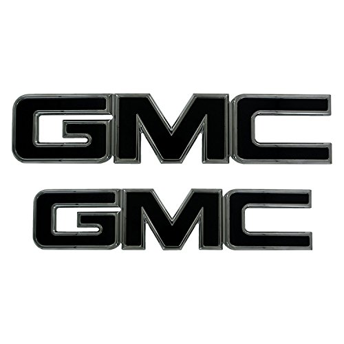 2015 - 2017 GMC Sierra 2500/3500 HD Black/Polished Billet Aluminum Grill and Liftgate Emblem Set