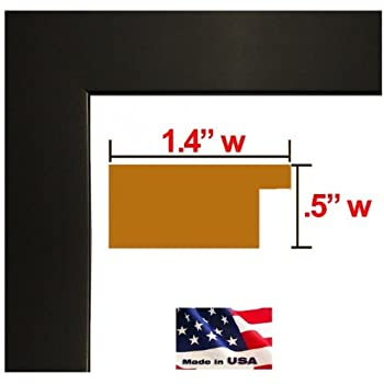 14x22 single flat black 125 inches wood composite mdf picture poster frame blkmdf125 single