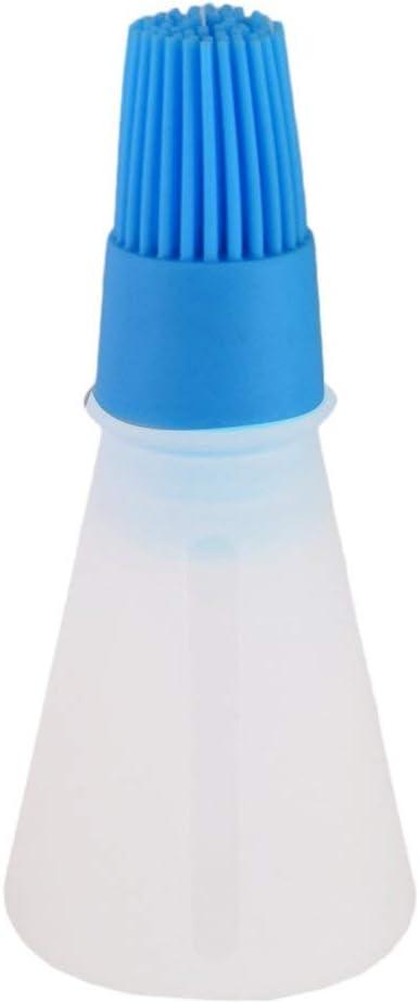 Espesar Con Aceite Olla Control De Aceite Cepillo De Silicona Placa De Hierro De Alta Temperatura Cepillo De Botella De Aceite Cepillo De Barbacoa Bbq, Azul Caramelo
