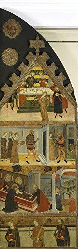 ポリエステルのキャンバス、アート装飾キャンバスプリントの油絵` Serra Jaime Stories Of Saint John the Baptist ca。1359`、8x 26インチ/ 20x 65cmはBF、最高のギフト用GF、ホームアートワークとギフトの商品画像