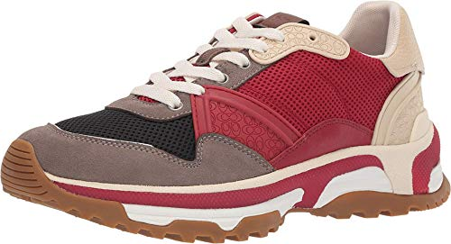 Coach Men's C143 Runner Red Multi 11 D US (Coach Shoes For Men Sneakers)