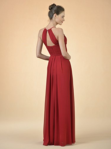 01e51a64b Alicepub Long Chiffon Bridesmaid Dress Maxi Evening Gown A Line Plus Party  Dress