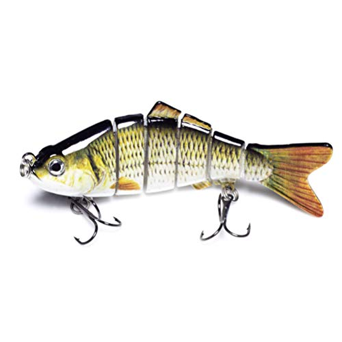 Calissa Offshore Tackle Jointed Bass Swimbait Fishing Lure Crankbait ||| 4 inches 0.7oz (20g) (A- Shiner Perch)