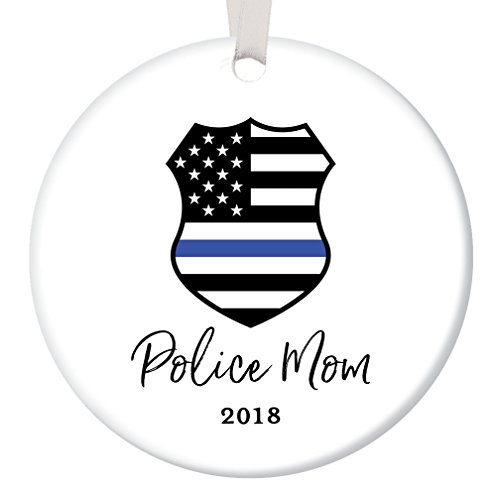Police Keepsake Officer (Police Mom Christmas Ornament 2018 Tree Decoration Porcelain Keepsake Present Female Officer Mother Mommy Mama from Children Son Daughter 3