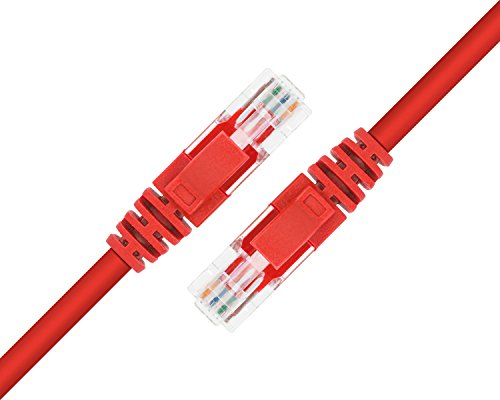 Maximm Cat6 Snagless Ethernet Cable - 200 Feet - Red - Pure Copper - UL Listed - Cable Ties Included by Maximm (Image #3)