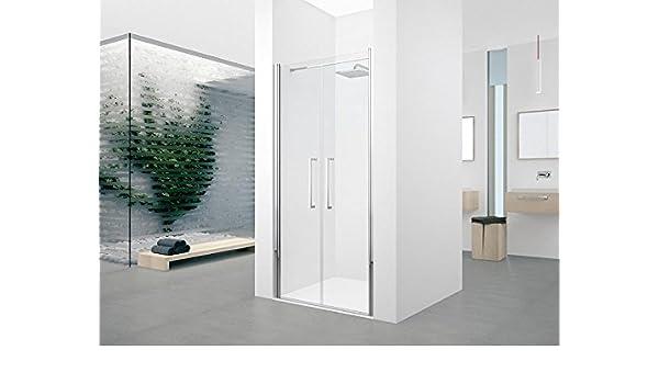 Puerta con 2 paneles battants Young 2.0 2B 120 cm transparente Silver: Amazon.es: Bricolaje y herramientas