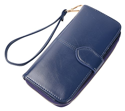 Blocking Womens Leather Wallet Capacity