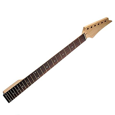 Electric Guitar Neck for Ibanez Parts Replacement Maple with Rosewood Fretboard 24 Fret (Electric Guitar Neck Replacement)