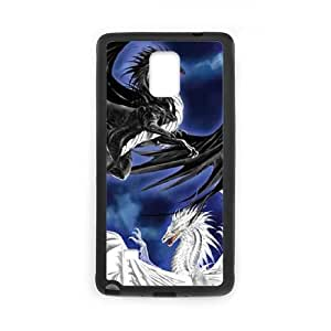 Samsung Galaxy Note 4 Cell Phone Case Black Twilight Duel N7P4HJ