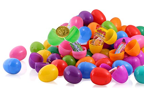 walla 25 Candy Filled Easter Eggs, Surprise Eggs Filled with Easter Candies, Great for Easter Eggs School Hunt, Surprise Eggs Hinged -