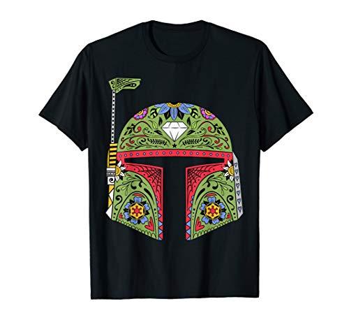 - Star Wars Boba Fett Suger Skull Helmet Graphic T-Shirt