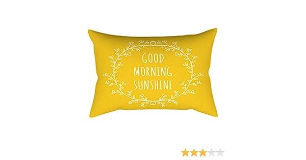 YWLINK 1PC Amarillo Rectangular Moda Simple Vendimia Funda De Almohada CojíN DecoracióN del Hogar Sala De Estar Cafe Ropa De Cama Oficina Hermoso 30cm ...
