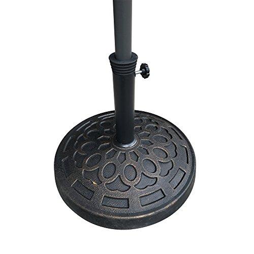 Do4U Umbrella Cone Umbrella Wedge Parasol Base Stand Patio Table Hole Ring Plug (Carbon Black, 1 Pc)