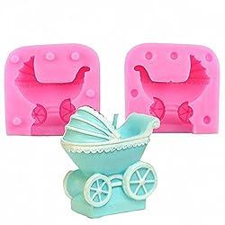 MoldFun 3D Baby Stroller Pram Carriage Baby-car Si