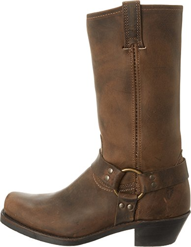 FRYE Women's Harness 12R Boot, Tan Crazy Horse, 8.5 M US