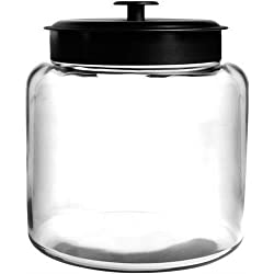Anchor Hocking 88904 1.5 gallon Montana Jar with Black Metal Cover, Clear (Anchor Hocking88904 )
