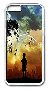 ACESR Child World Kawaii iPhone Case PC Hard Case Back Cover for Apple iPhone 6 4.7inch