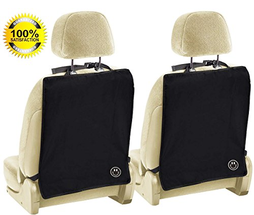 Iskys Kick -mat, Luxury Car Seat Back Protectors 2 Pack - Keep Your Car Seats 100% Clean From All The Stains And Scuffmarks Left By The Kids With These Auto-protective Seat Covers - Designed For Most Vehicles (These Seat)