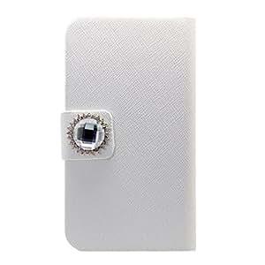 Procesamiento de dos días -Piedra de Cristal Pu cuero de caso completo del cuerpo para el iPhone 4/4S
