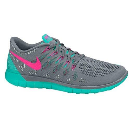Nike Free 5.0 2014 Women's Shoes Cool Grey / Jade / Pink (5)