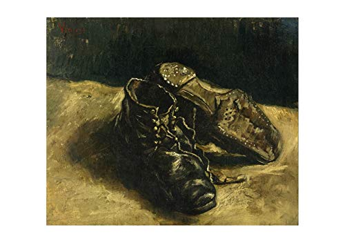 (Spiffing Prints Vincent Van Gogh A Pair of Shoes, 1887 01 - Extra Large - Semi Gloss - Framed)
