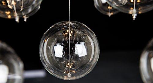 Saint Mossi Round Glass Bubble Ball Rain Drop Chandelier