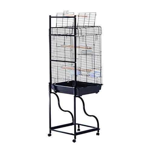 Pawhut 58 Bird Cage Black