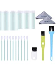 Wisdompro 45 Pieces Cell Phone Cleaning Kit with USB Port Brush Set, Headphone Jack Cleaner and Cleaning Cloth for iPhone, MacBook, Airpords, Laptop and Other Electronics