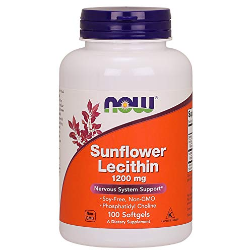 NOW Sunflower Lecithin 1200 mg,100 Softgels