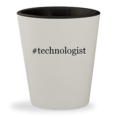 #technologist - Hashtag White Outer & Black Inner Ceramic 1.5oz Shot Glass
