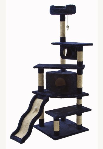 bluee Go Pet Club Cat Tree, 70-Inch, bluee