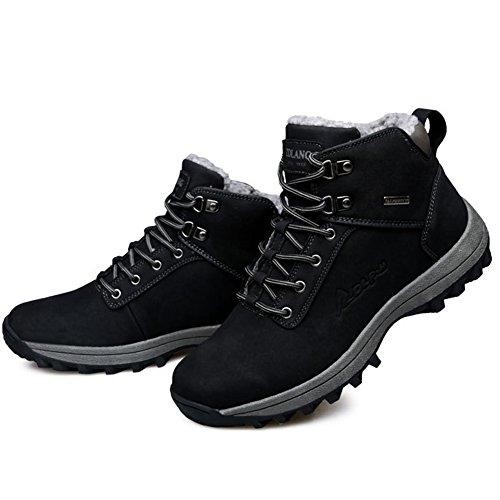 Black Outdoor Winter Men's Waterproof Boot and Women's Hiking Shoe Leather Hiker Backpacking BERTERI xqS6wfZ