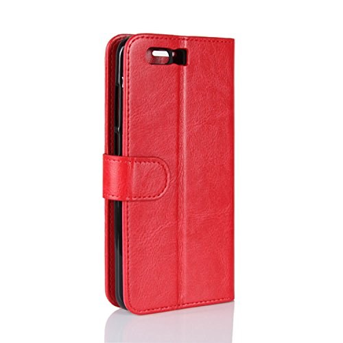 Genuine Huawei Handmade Red 9 Phone Case Slots Wallet Honor Leather with 9 Protective Retro Card Huawei Brown Credit HualuBro ID Case Honor for Flip Cover 1YdIFqwWAW
