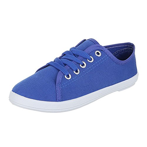 Ital-Design - Zapatillas de tela para mujer Azul - azul