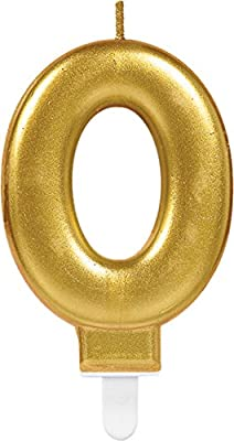 CARPETA® Número Vela * Número 0 * en oro con ranuras Soporte ...