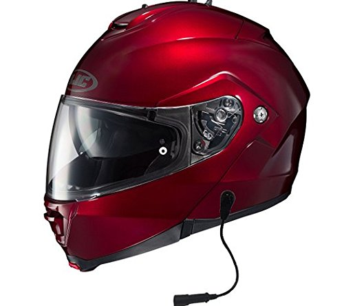 HJC IS-MAX II Helmet With Headset GW 5 Pin Wine Large