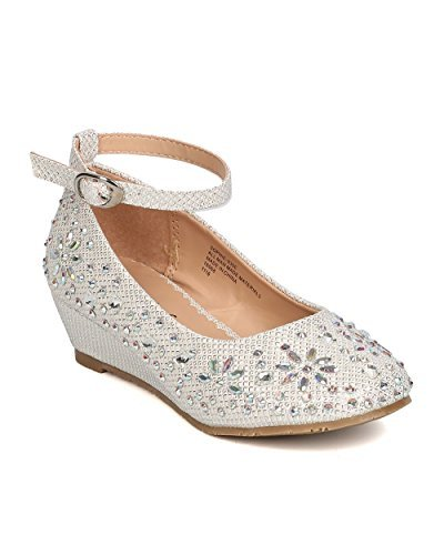 Little Angel Girls Glitter Rhinestone Wedge - GC47