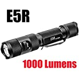 Powertac E5R 1000 Lumen E5 Rechargeable LED Flashlight with 3400mAh 18650, USB Type-C Charger
