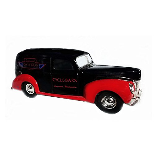 1940 Ford Panel (Die-Cast 1940 Ford Panel Delevery Truck ERTL Coin Bank Black/Red)