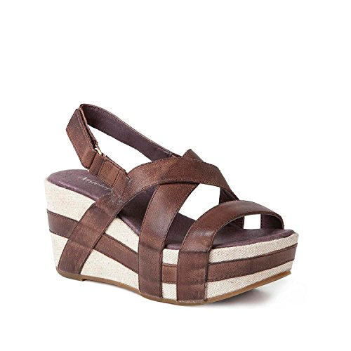 Sandali Classici Antistress Da Donna In Pelle 819 Marrone