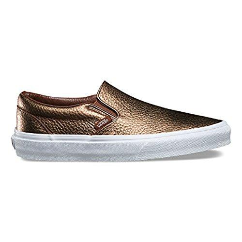 Felpe Da Donna Classiche Slip-on Sneakers In Pelle Metallizzata Marrone Da Donna 5.5